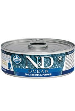 N&D CAT OCEAN Kitten Codfish & Shrimps & Pumpkin 80g