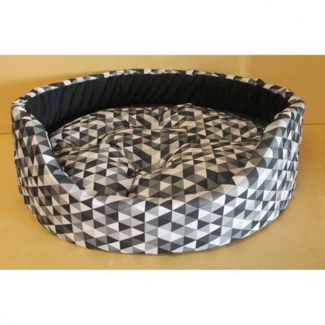 Pelech ovál s pol.Modern 54x46x16 krasohled černošedý