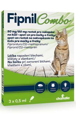 Fipnil Combo 50/60mg Cat Spot-on 3x0,5ml