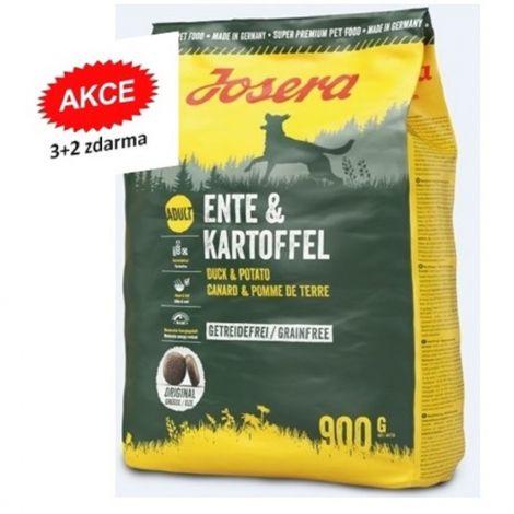 Josera 5x0,9kg Ente Kartoffel 3+2 zdarma