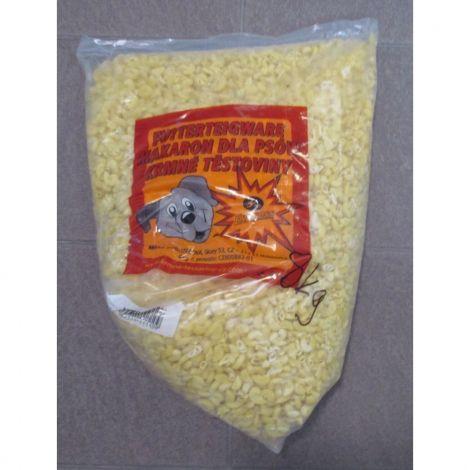 Poškozené Těstoviny kolínka 8kg krmné žluté masová příchuť-šunka/Schusterová