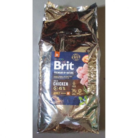 Brit 15kg premium Nature Adult M - náhradní obal