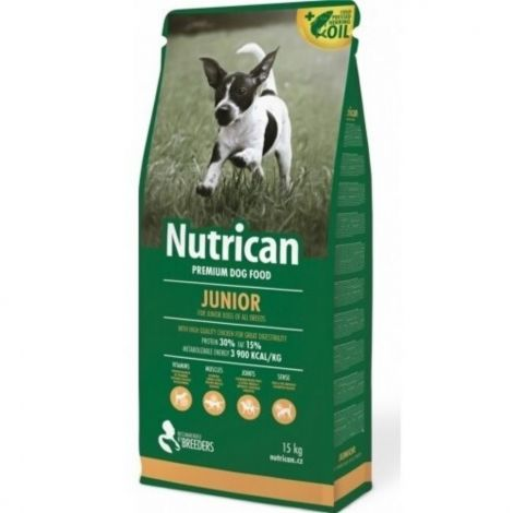 Expirace Nutrican 15kg Junior dog