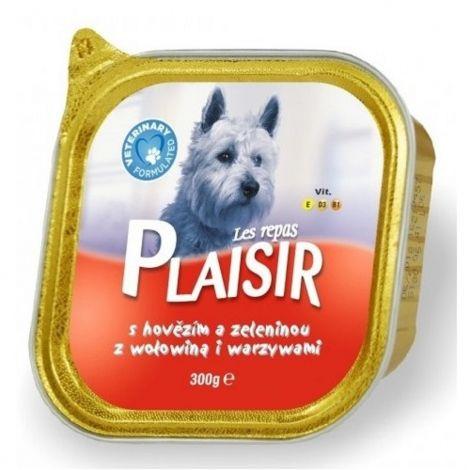 Plaisir dog 300g hovězí+zel.vanička/18ks