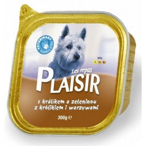 Plaisir dog 300g králík+zel.vanička/18ks