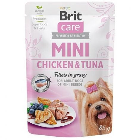 Brit Care Mini Chicken&Tuna fillets in gravy 85g