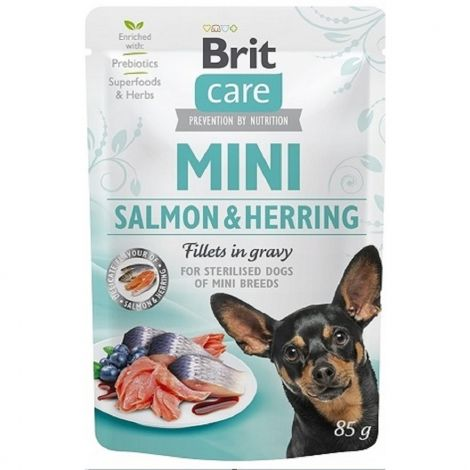 Brit Care Mini Salmon&Herring sterilised fillets in gravy 85g