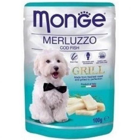 Monge grill 100g dog kaps.treska 1/24ks