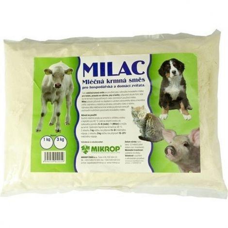 Milac 3kg,mléčná krmná směs pro hospodářská a domácí zvířata