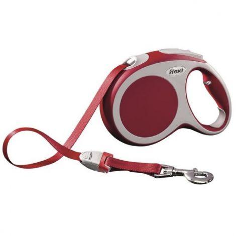Flexi Vario L 5m do 60kg červená/pásek