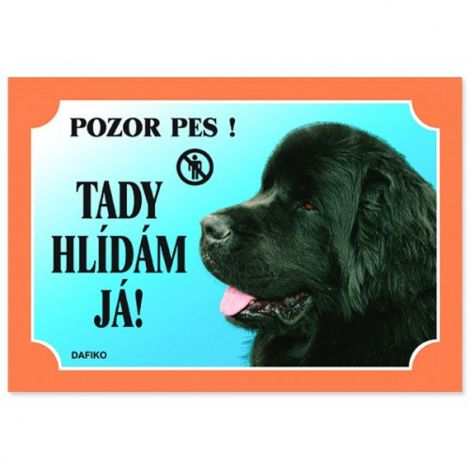 Cedulka novofoundlan.pes černý