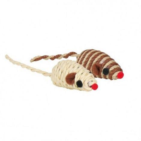 Myš sisalová malá,barevná 5cm