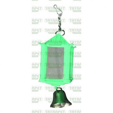 Ptačí lucerna  se zrcadly+zvoneček