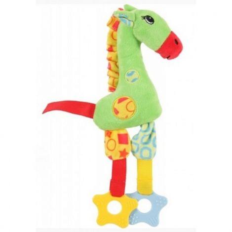 Hračka plyš žirafa 29cm zelená pískací