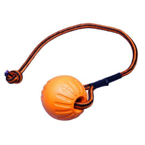Míček FOAM se šňůrkou  oranžový 9x53cm