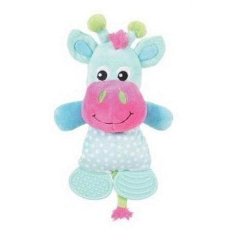 Hračka plyš kráva 26,5cm modrá pískací