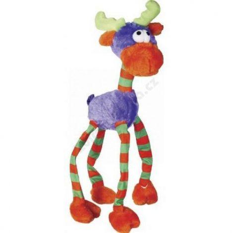 Hračka plyš zvířátko fialové s dlouhýma nohama