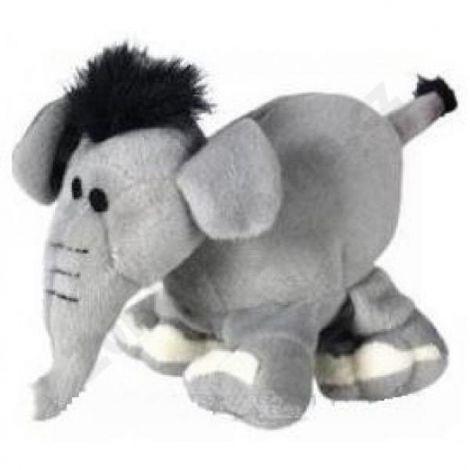 Hračka plyš slon 16cm šedý pískací