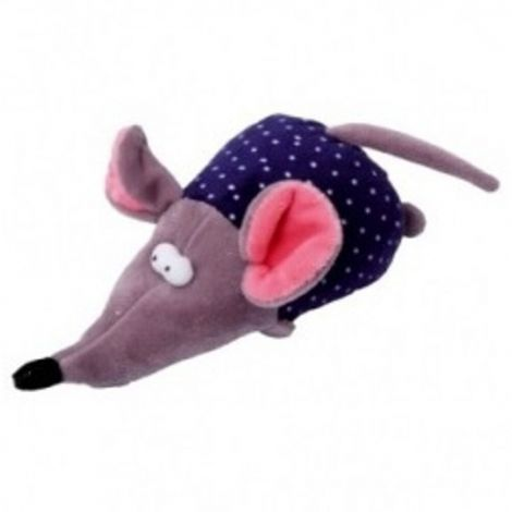 Plyš - myš  pískací 17cm