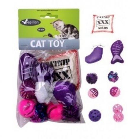 Hračka pro kočky - růžové mix 10 ks