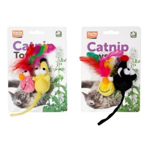 Hračka plyšová cat s catnipem 2ks/6cm na blistru Karlie