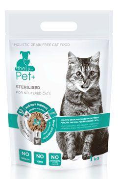 Krmivo Pet+ 3v1 kočka STERILISED 1kg