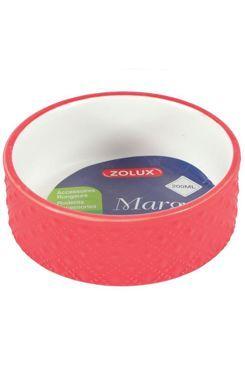 Miska keramická MARGOT hlodavec 200ml červená Zolux