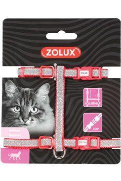 Postroj kočka SHINY nylon červený Zolux