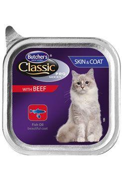 Butcher's Cat Pro Series Sking&Coat hovězí vanička 85g