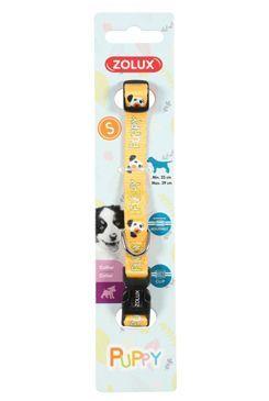 Obojek pes štěně MASCOTTE nastavitelný žlutý 8mm Zolux