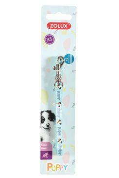 Vodítko pes štěně MASCOTTE modrá 8mm 1,2m Zolux