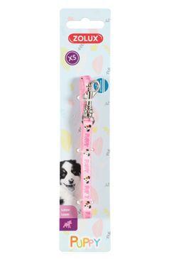 Vodítko pes štěně MASCOTTE růžová 8mm 1,2m Zolux