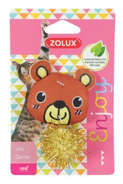 Hračka kočka LOVELY s šantou medvěd Zolux