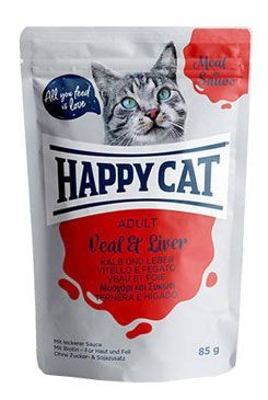 Happy Cat kapsa Meat in Sauce Adult Tele a játra 85g