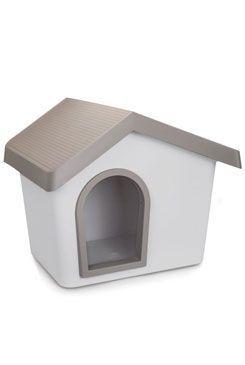Bouda pro psa plastová šedá 72,2x61,8x62,3cm IMAC