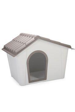 Bouda pro psa plastová šedá/hnědá 98,5x77,5x72,5cm IMA