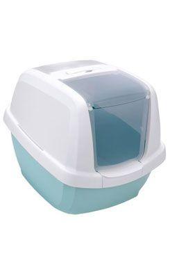 WC kočka s filtrem a lopatkou mátová 62x49,5x47,5cm
