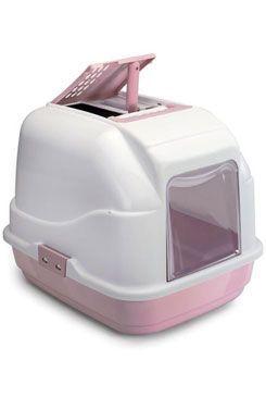 WC kočka s filtrem a lopatkou růžová 62x49,5x47,5cm