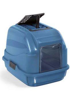 WC kočka kryté recykl. plast s filtrem a lopat modrá