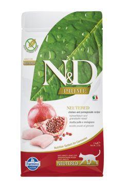 N&D PRIME CAT Neutered Chicken&Pomegranate 10kg