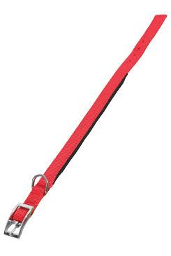 Obojek pes SOFT NYLON červený 25mm/65cm Zolux