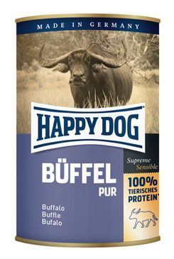 Happy Dog konzerva Buffel Pur buvolí 400g
