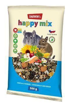Darwin's Činčila&Osmák Happy mix 500g NEW