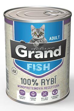 GRAND konz. kočka deluxe 100% rybí 400g