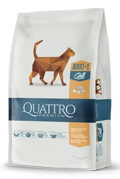 QUATTRO Cat Dry Premium all Breed Adult Drůbež 400g