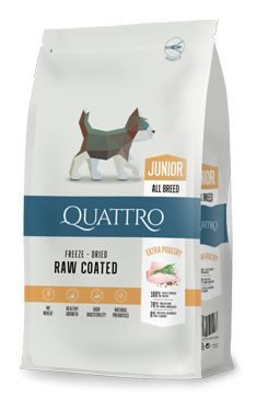 QUATTRO Dog Dry Premium All Breed Junior Drůbež 1,5kg
