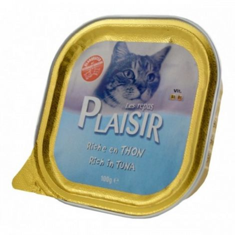 Plaisir cat 100g tuňák vanička/32ks