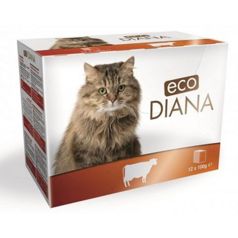 Eco Diana 100gx12ks kaps.cat hovězí kousky v omáčce