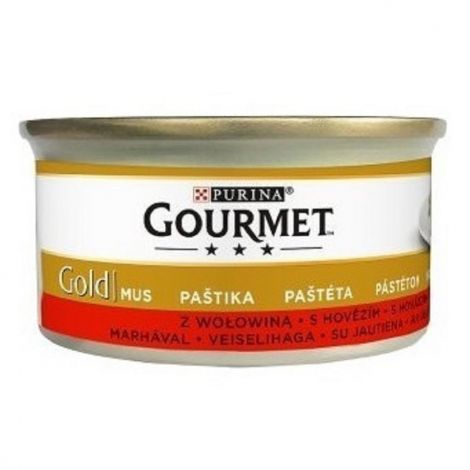Gourmet  85g gold paštika hovězí cat/24ks 94