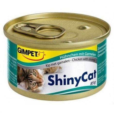 Expirace Shiny cat 70g kuře+kreveta